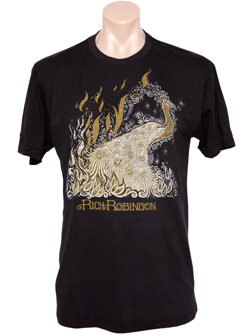 Rich Robinson Black Peacock Men's Sueded SS Tee