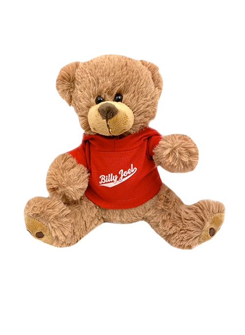 Plush Bear-Athletic Logo Red Hoodie Shirt
