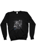Black Crew-neck Sweatshirt-Fan Art