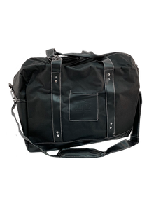 Black Weekend Travel Bag Leather Logo
