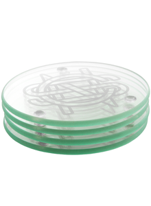 CSN Logo Glass Coaster Set