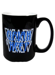 Black/White Mug-Blue Logo-15 oz.