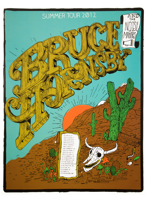 Bruce Hornsby 2012 Tour Poster