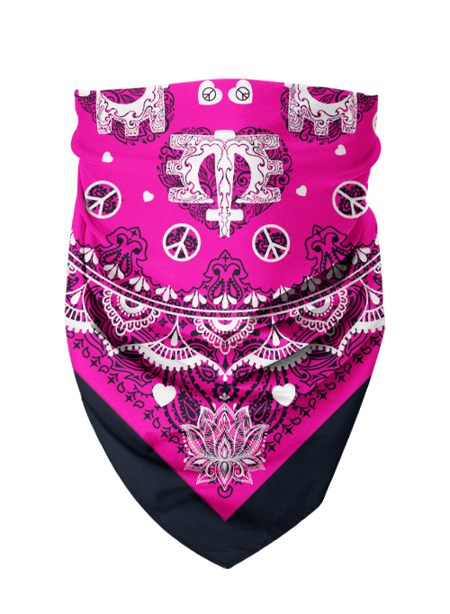 Bandana-Navy/Pink Dust Mask