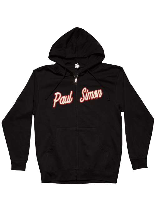 Black Zip Hoodie-Appliqued Name