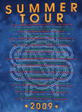 Blue Tie-Dye SS-2009 Tour Name Logo/Itinerary