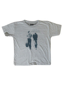 Simon And Garfunkel Grey Walking Art YTH Tee