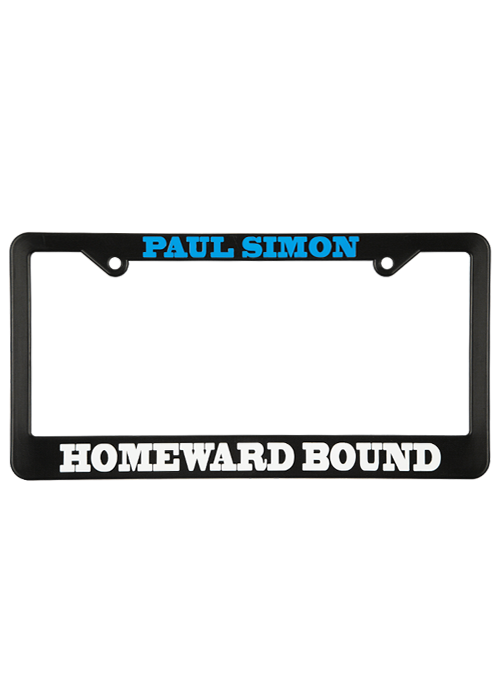 Black License Plate Frame-Homeward Bound