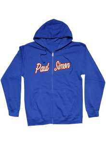Royal Blue Zip Hoodie-Appliqued Name