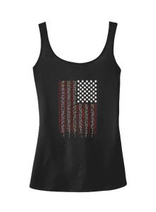Ragged Flag Bling Drapery Tank