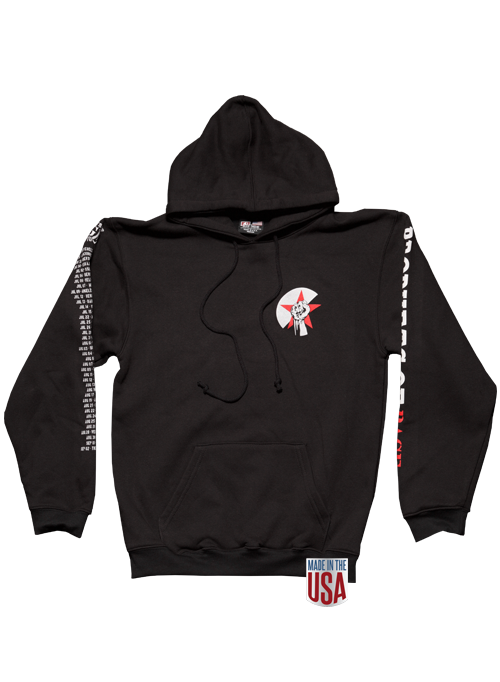 Black Pullover Hoodie-2018 Tour/Itinerary