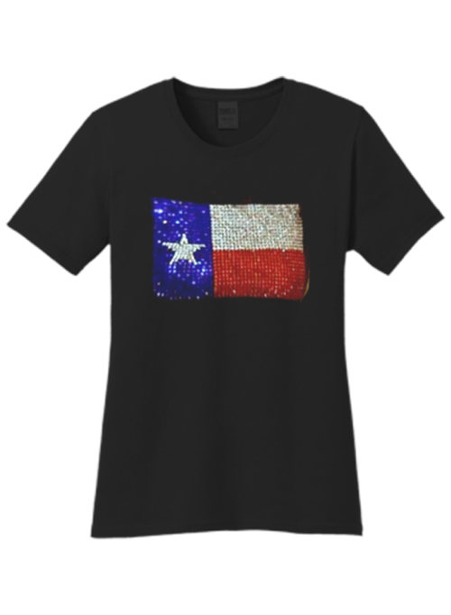 Texas Flag Bling Ladies Fit Crew As Seen On LeeAnne Locken Real Housewives Of Dallas