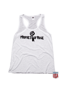 White Women's Tank-Stencil Fist