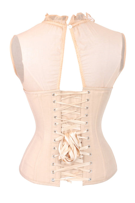 Nude Overbust Sleeveless Corset Top