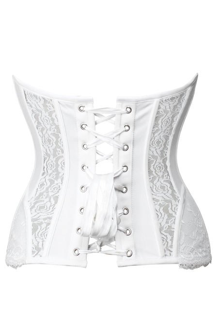 Low Back Snow White Bridal Corset