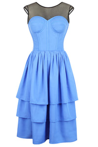 Powder Blue Corset Dress