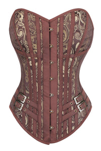 Steampunk LARP Overbust Corset with buckles