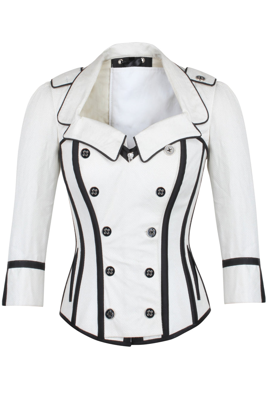 Steampunk Double Breasted Corset Jacket