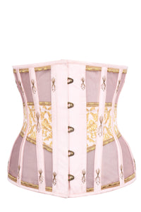 Historically Inspired Peach and Gold Underbust Corset