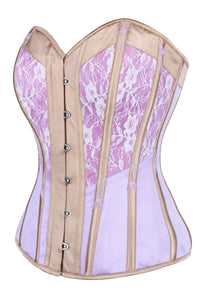 Lilac and Champagne Overbust Corset