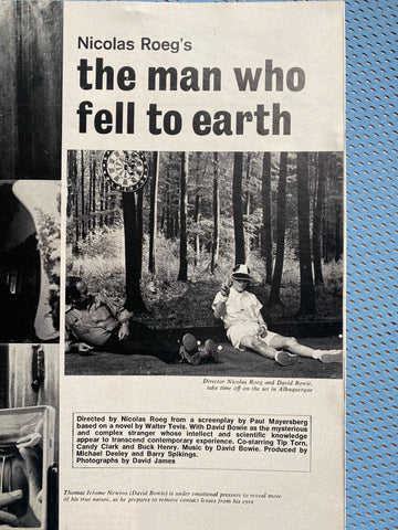 Anglozine Bowie The Man Who Fell to Earth