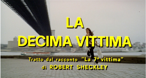 La Decima Vittima The 10th Victim film Anglozine