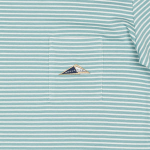 BEPPO Tshirt stripe (Dusty Blue)
