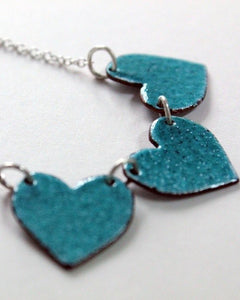 Reversible Triple Heart Necklace