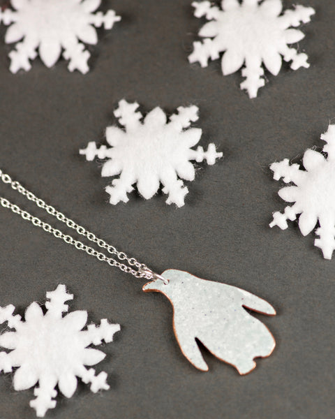 Reversible Penguin Necklace