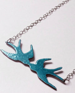 Kissing Swallows Necklace
