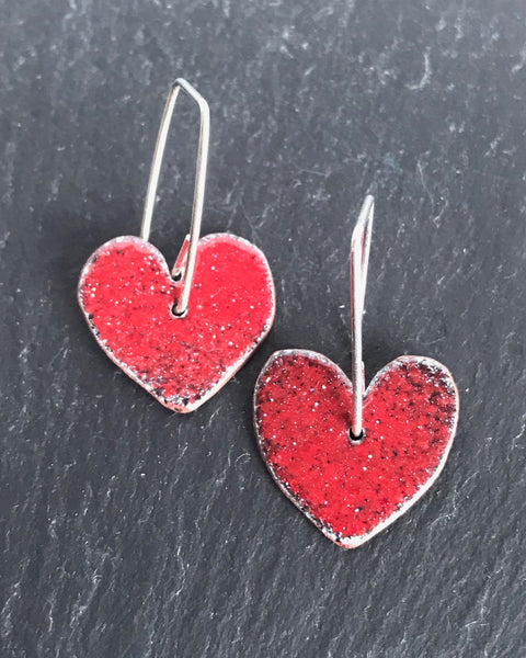 Drop Heart Earrings