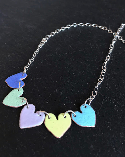 Multi Hearts Necklace