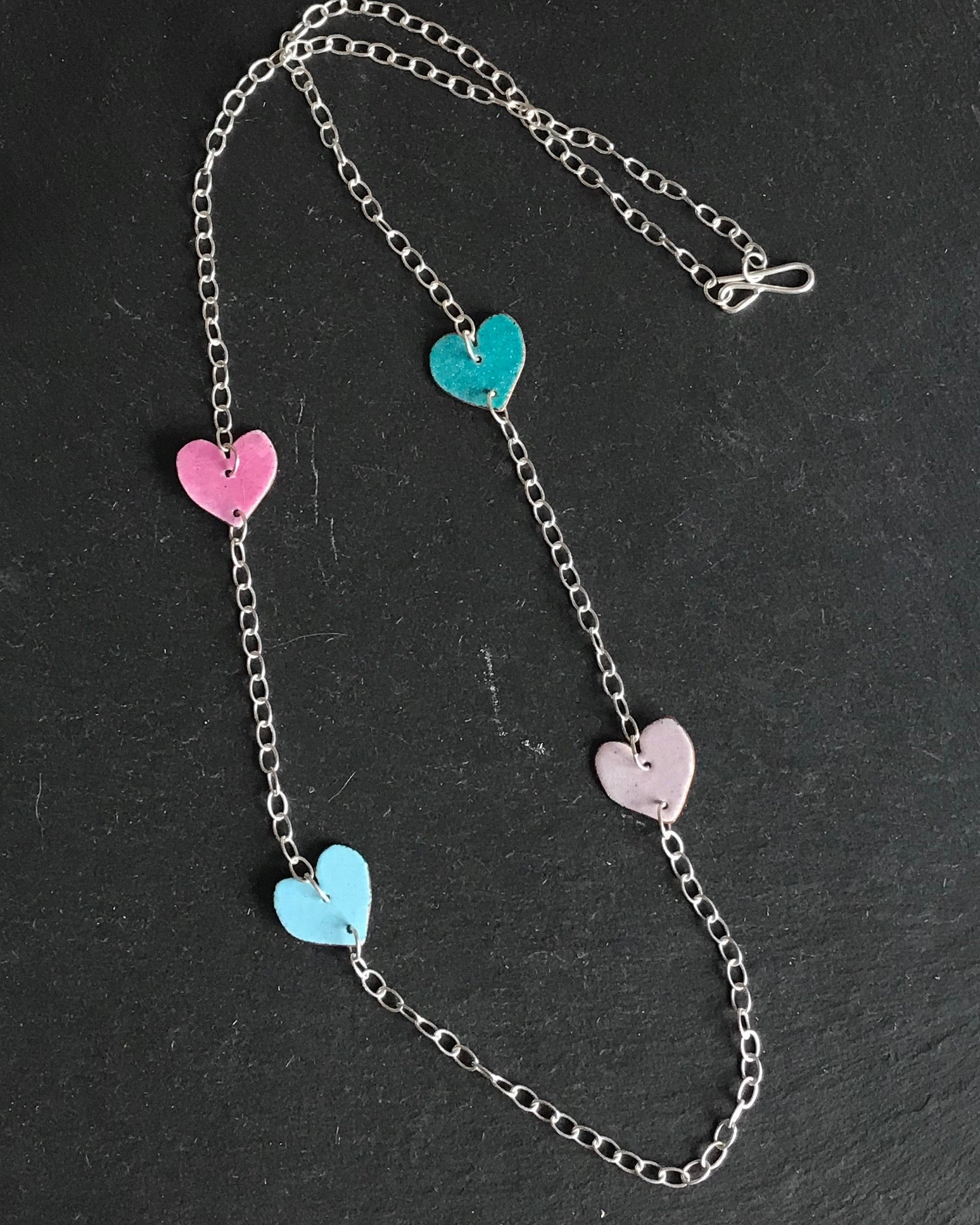 Long Hearts Necklace