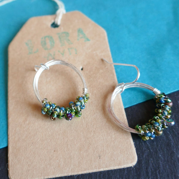 Wire & Bead Earrings