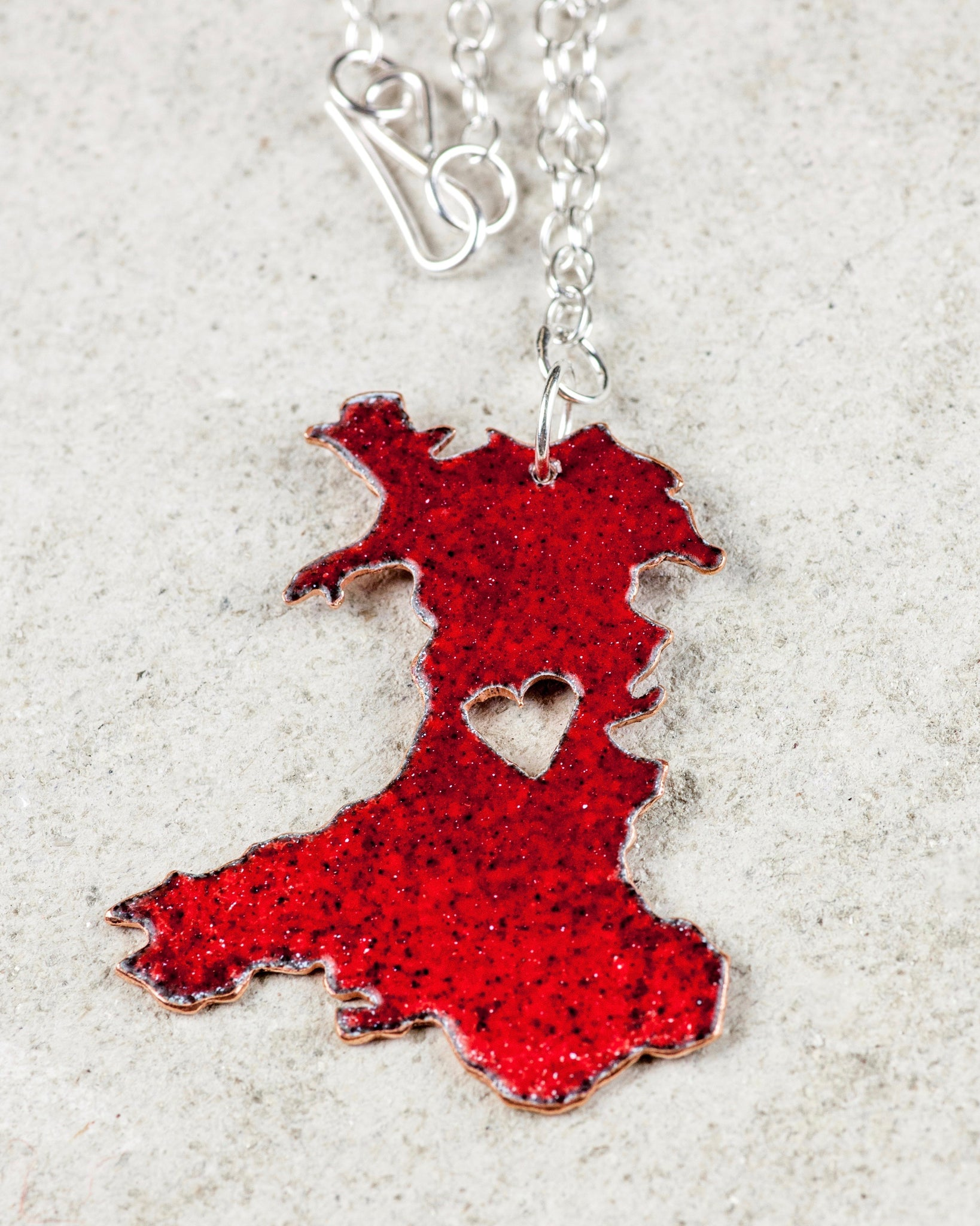 Wales Map Necklace