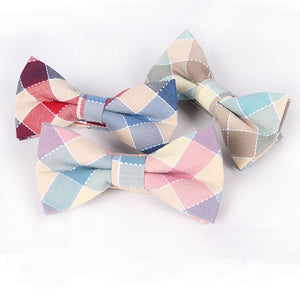 Groom and Groomsmen Plaid Bowtie