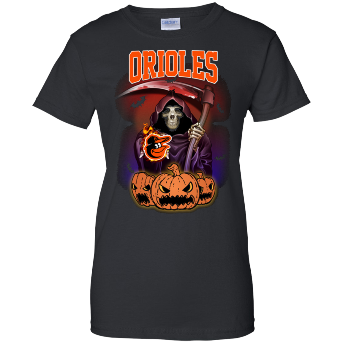 Baltimore Orioles Reaper The Death Halloween For T Shirt