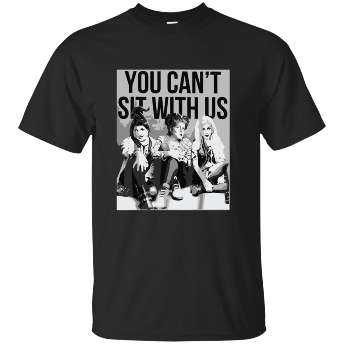 You can't sit with us hocus horror halloween T - Shirt For Men