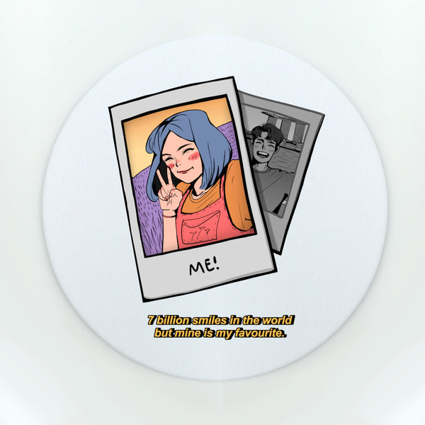 7 Billion Smiles Girl Cup Coaster (Paper)