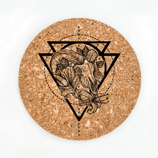 Aries Black Pot Coaster (Cork)