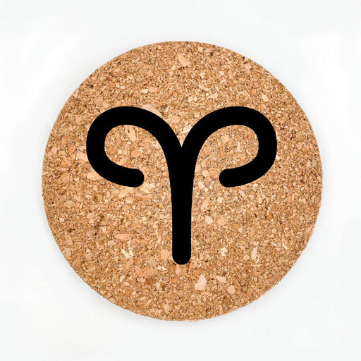 Aries Sign Pot Coaster (Cork)