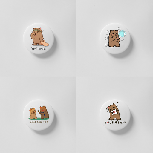 Bearly 40mm Magnets Bundle 1