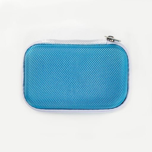 Blue Rectangular Earphone Case