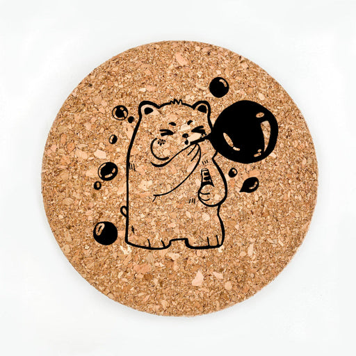 Bubble Bear Pot Coaster (Cork)