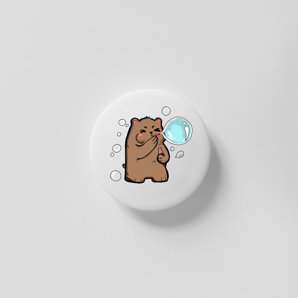 Bubble Bear 40mm Magnet