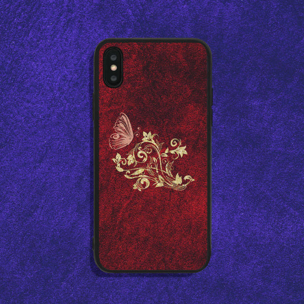 Butterfly Among Flowers Phone Case
