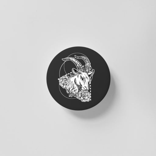 Capricorn Black 40mm Magnet