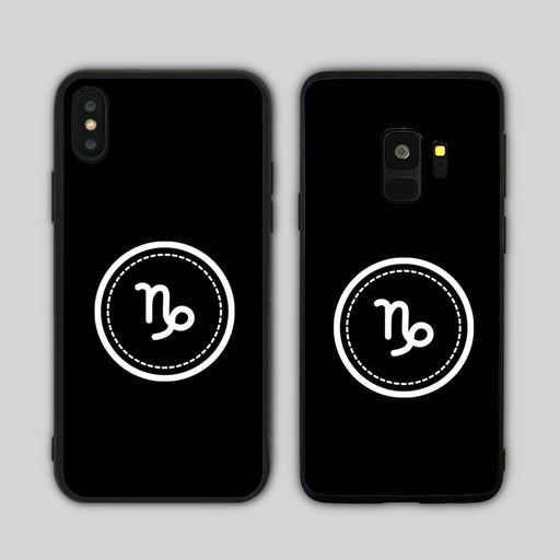 Capricorn Sign Black Phone Case