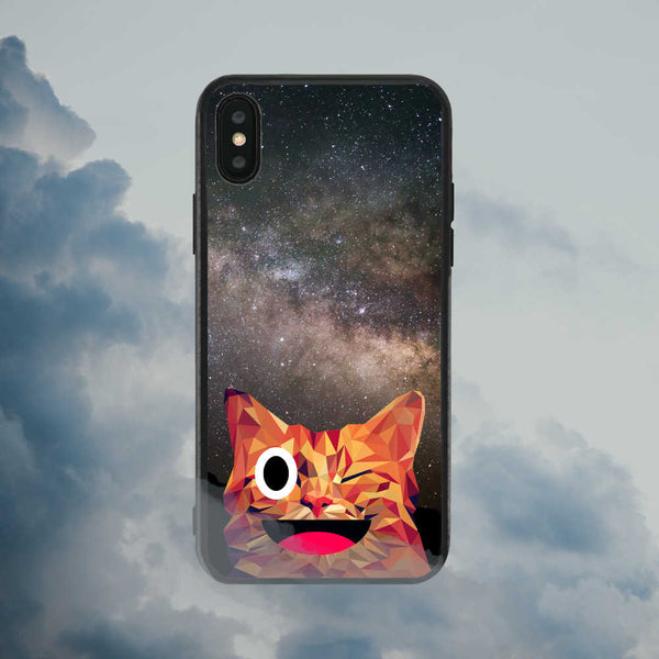 Cat in the Galaxy Phone Case