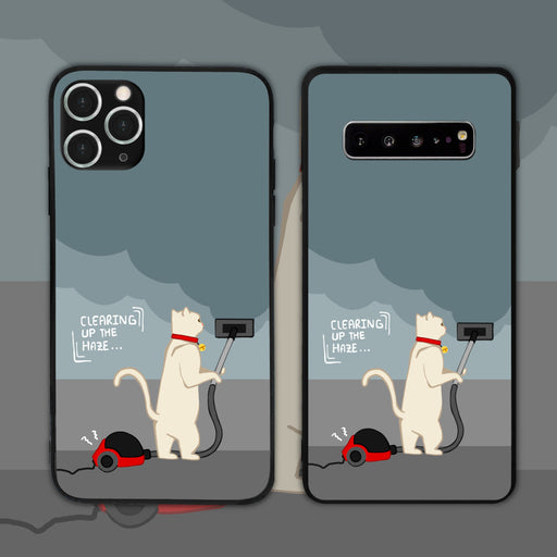 Clearing Up The Haze Cat Phone Case